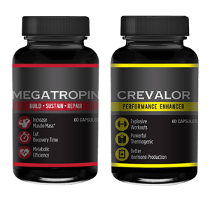 two bottles of crevalor and megatropin